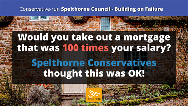 Spelthorne Conservatives borrowed too much (Spelthorne Lib Dems)
