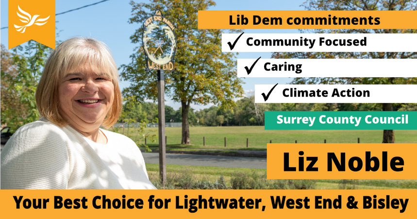 Graphic for the Lightwater, Bisley and West End Campaign